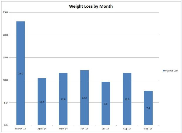 weight loss by month